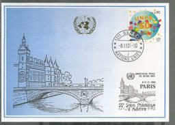 2001, UNO Genf - Blaue Karte, Show Card  Paris - Briefe U. Dokumente