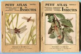 INSECTES Petits Atlas Boubee 2 Fascicules Avec Planches Couleurs 1944 - Books, Magazines, Comics