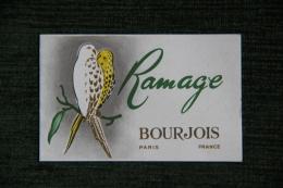 Carte RAMAGE De BOURJOIS - Cartes De Visite