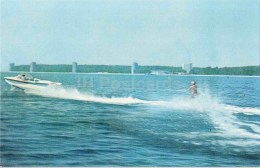 Water Skies - Motor Boat - Pitsunda - Abkhazia - 1970 - Georgia USSR - Unused - Géorgie