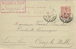 Carte Postale - Entier Postal - Tampons Paris - Mellerio & Fossé - Avril 1902 - Ganzsachen