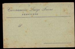 T0087 CARTOLINA COMMERCIALE PERSICETO - CARROZZERIA LUIGI FORNI - Altre Città