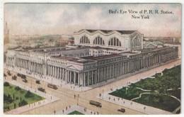Bird's-Eye View Of Pennsylvania Railroad Station, New York - Transports