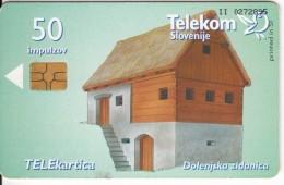 SLOVENIA SLOVENIJA   PHONECARD 1998 HOUSES DOLENJSKA ZIDANICA SOD   TELEKOM CAT.NO. 152 ARCHITECTURE - Slovenia