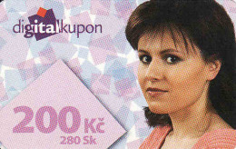 Tschechische Rep. - Czechia + Slovakia, Digital Satelliten TV Coupon, Nominal 200 Kč Or 280 Sk - Kronen - Ohne Zuordnung