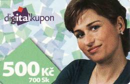 Tschechische Rep. - Czechia + Slovakia, Digital Satelliten TV Coupon, Nominal 500 Kč Or 700 Sk - Kronen - Unclassified