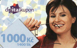 Tschechische Rep. - Czechia + Slovakia, Digital Satelliten TV Coupon, Nominal 1000 Kč Or 1400 Sk - Kronen - Ohne Zuordnung