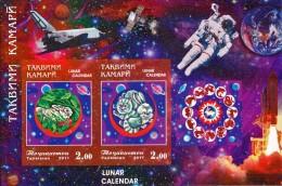 TAJIKISTAN - 2011 - Mi BL. 60B - YEAR OF THE HARE IMPERFORATED - MNH ** - Tajikistan