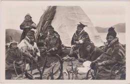 Norvège,NORGE,NORWAY,LAPP ELEIR,LAPON,LAPONIE,tente ,hiver,fumeur De Pipe,corne,menteau De Fourrure,carte Photo,rare - Norvège