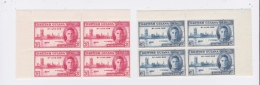 """British Guiana-1946 King George VI """" World War 2 Peace"""" Mounted Mint Stamps In Blocks Of Four. Hinge Mount Centre Top - British Guiana (...-1966)"""