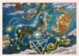 Leo - Lion - Leo Minor - Sextans - Cancer - Constellations - Zodiac - Astronomy - 1983 - Russia USSR - Unused - Astronomia