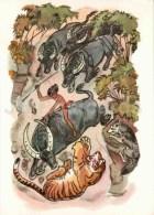 Buffalo - Tiger - Wolf - Sher Khan - Akkela - Mowgli By Rudyard Kipling - 1975 - Russia USSR - Unused - Fiabe, Racconti Popolari & Leggende