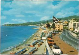R367 Varazze (Savona) - Panorama Della Spiaggia - Auto Cars Voitures / Viaggiata - Italy