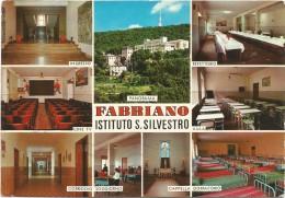 R371 Fabriano (Ancona) - Istituto San Silvestro - Panorama Vedute Multipla / Viaggiata 1991 - Italy