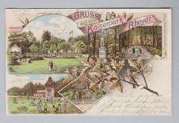 AK DE NO-WE REYDT Kaiserspark 1906-07-17 Reydt Litho Fingerle & Freudenberg - Germany