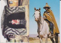 LESOTHO - Lot Of 2 Ppc's - Village Doctor In Front Of His Surgery - Mosotho Horseman - Docteur - Lesotho