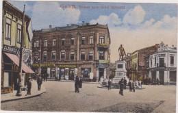 ROUMANIE,ROMANIA,ROMANA,GALATI,moldavie,BRAILA,jud Et,1919,vedere Spre Hotel Splendid,commerce BRAUNFELD,glukmann,rare - Roumanie
