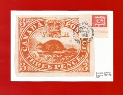 CANADA  1978 , The First Stamp - Maximum Card - First Day Capex 78 - Toronto 13.VI.78 - Maximumkaarten