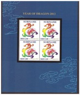 Surinam / Suriname 2012 CNY Jaar V/d Draak Year Of The Dragon MNH Sheet - Chinees Nieuwjaar