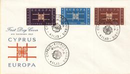 Cyprus - FDC 4-11-1963 - Europa/CEPT - M 225-227 - Europa-CEPT