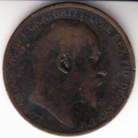 GRAN BRETAÑA 1904 ONE  PENNY  EDWARDUS   VII   EBC   CN 4432 - 1902-1971 : Monedas Post-Victorianas