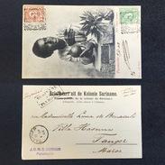 1902. SURINAME. PARAMARIBO - TANGER. SURINAME VIA PLYMOUTH. POSTCARD. - Surinam