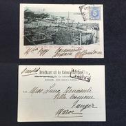 1902. SURINAM. PARAMARIBO - TANGER. SURINAME VIA HAURE. POSTCARD. - Surinam
