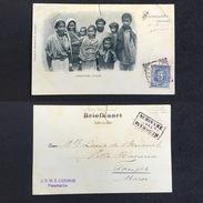 1902. SURINAM. PARAMARIBO - TANGER. SURINAME VIA PLYMOUTH. POSTCARD. - Surinam