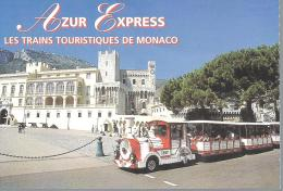 """MONACO --- TICKET De TRANSPORT --- AZUR  EXPRESS           """" Les Trains Touristiques De Monaco """" - Non Classés"""