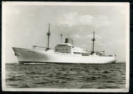"""CPM S/w Photo AK Germany,Allemagne Reederei F.Laeisz Hamburg 1960 """"Kühl-Motorschiff-PARTHENON """"1 AK Used,bef. - Commerce"""