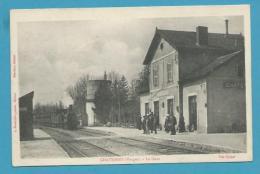 CPA - Chemin De Fer Arrivée Du Train En Gare De CHATENOIS 88 - Chatenois