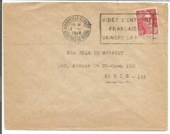 OBLITERATION MECANIQUE SUR LETTRE DE MARSEILLE DEPART DU 7/6/1948 - 1921-1960: Période Moderne