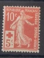 FR112 - FRANCE N° 147 Neuf** Semeuse Croix-Rouge - 1906-38 Semeuse Camée