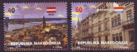 Macedonia 2015 Macedonia In Europa Union, Riga, Latvia, Luxembourg, Set MNH - 2015