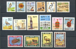 165 SOUDAN 1991 - Yvert 398/413 - Faune Industrie - Neuf ** (MNH) Sans Trace De Charniere - Soudan (1954-...)