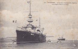 Bb - Cpa St NAZAIRE - Le Croiseur Cuirassé LEON GAMBETTA Et Le DUPETIT THOUARS Sur Rade - Warships