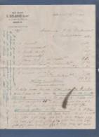 1901 - FACTURE PHOTOMINIATURE JULES DELARUE / C. DELARUE SUCCr 4 COURS DE RIVE GENEVE - PRODUITS POUR PHOTOGRAPHIE ? - Suisse