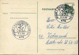 9651 Germany  , Special Postmark 1966 Paderborn, Bridge,  Spiel, Circuled Card - Games