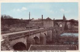 PORT SUR SAONE - Grand Pont Et Les Moulins Attelage Sur Le Pont - Francia