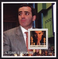 Sao Tome And Principe, 2003, Chess, Kasparov, S\s - Chess