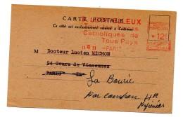 EMA 12 Francs  Sur Carte Postale Paris VI Editeur Lethielleux - 1921-1960: Periodo Moderno