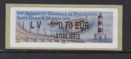 ATM-LABEL-LISA 2- L. VERTE 0.70 € : St DENIS D´Oléron -phare-pont-fort-huître 3-4 Juin 2016 - 2010-... Vignettes Illustrées