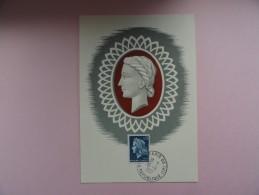 CARTE MAXIMUM CARD MARIANNE DE SCHEFFER AVEC CACHET ORDINAIRE - 1960-69