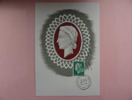 CARTE MAXIMUM CARD  MARIANNE DE SCHEFFER AVEC FLAMME ILLUSTRÉE - Cartoline Maximum