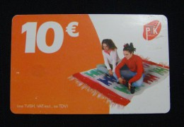 MEGA RARE KOSOVO 10 EURO CHIP CARD, PTK ND 2011, EXCELLENT QUALITY. 2 TYPE. LESS THEN 10 EXAMPLES KNOWN. - Kosovo