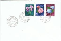 FLORA-L141 - LUXEMBOURG Floralies De Mondorf Les Bains Fleurs Diverses Sur FDC - Végétaux