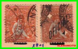 URUGUAY    2 SELLOS AÑO 1901 - Uruguay