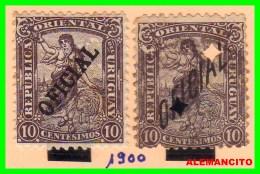 URUGUAY    2  SELLOS AÑO 1900 - Uruguay
