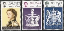 Brunei,  Scott 2016 # 226-228,  Issued 1977,  Set Of 3,  MNH,  Cat $ 1.15,  Hearaldry - Brunei (1984-...)