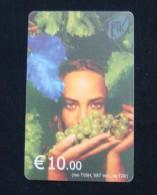 RARE KOSOVO 10 EURO CHIP CARD GRAPE, GIRL, PTK VALA ND 2002, EXCELLENT QUALITY. 1 TYPE. - Kosovo